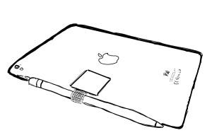 Skica Apple iPad Pro, Apple Pencil