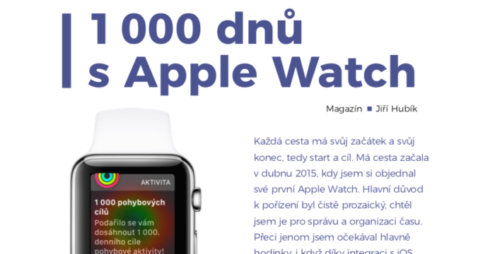 1 000 dnů s Apple Watch