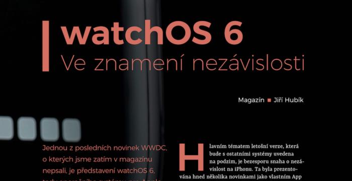 watchOS 6 – ve znamení nezávislosti, Jiří Hubík, iConsultant
